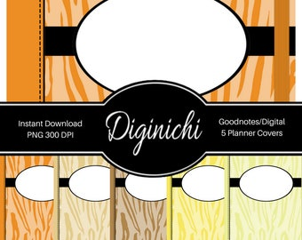 Tiger 01 - Digital Covers for Goodnotes Digital Planners and Journals - PNG & Printable