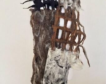 Wool Felted Scarf  Wool Felting  Wool Felted Wrap  Merino Wool Shawl  Wool Accessories
