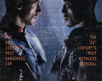 Back to School Sale: Demolition Man 1993 Fantasy/Thriller Movie POSTER Sylvester Stallone Wesley Snipes