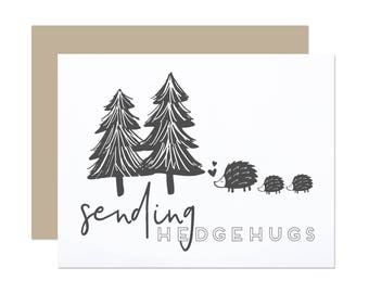 Sending Hedgehugs - Thinking of You Sympathy Card