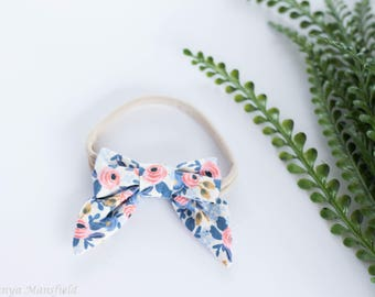 Rifle Paper Co // Set Sail Bow // Periwinkle and Coral // Sailor Bow Mini