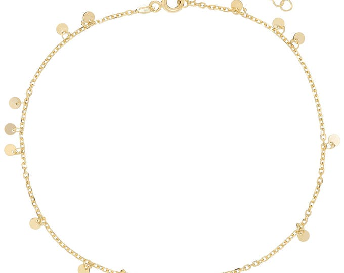 Dainty Disc Anklet