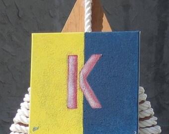"Signal Flag ""K"" nautical print"