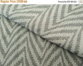5% off 1 yard of South Cotton Fabric, Handwoven Fabric, Indian Cotton Fabric, Off-White Fabric with Grey Chevron Pattern