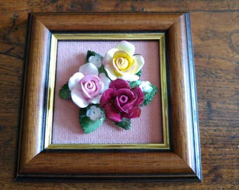Fine English bone china flower picture