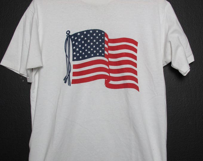 Made in USA American Flag 1990s vintage Tshirt