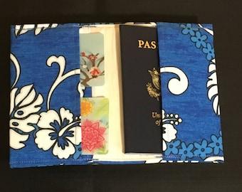 Passport RFID Blue Hawaii Cash and Card Holder