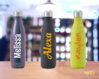 Water Bottle Decal Etsy - Vinyl stickers for glass bottles