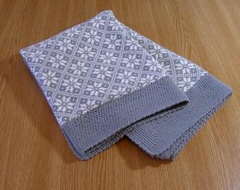 Gray cotton knit baby blanket hypoallergenic organic animal crib blanket for babies natural bedding gift for newborn stroller blanket