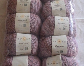 10X50g Rowan Felted Tweed DK  185 Frozen  50%Merino Wool 25Alpaca 25Viscose 500g Knitting Wool