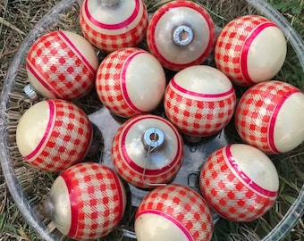 Vintage shiny brite ornaments | Etsy