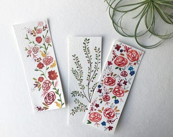 Custom Bookmarks / Watercolor Bookmarks / Watercolor Originals