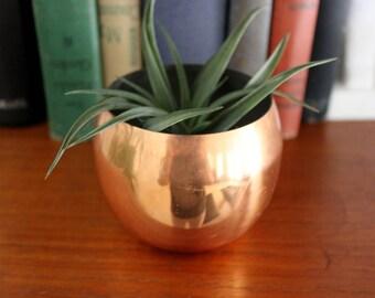Vintage Copper Cup Plant Holder