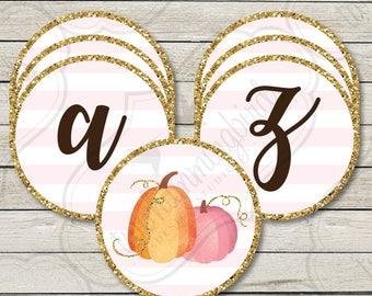 Little Pumpkin Birthday Banner, Fall Theme Birthday Banner, Pumpkin Birthday Party ,  Printable, Digital Download File