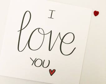 Valentine's card // Calligraphy // I love you // Boyfriend // Girlfriend // Partner // Husband // Wife