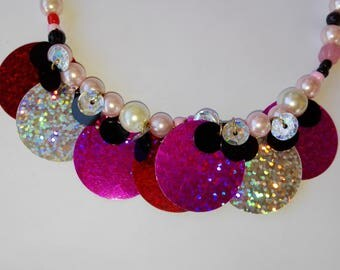 Elastic Pink Fashion Necklace!