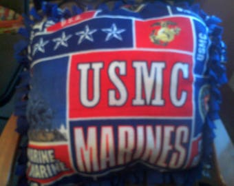 Marines fleece pillow