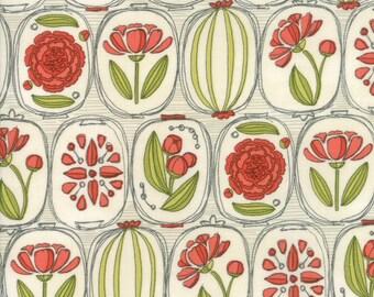 Moda BLUSHING PEONIES Quilt Fabric 1/2 Yard By Robin Pickens - Cloud 48611 11
