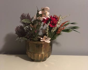 Medium Brass Planter