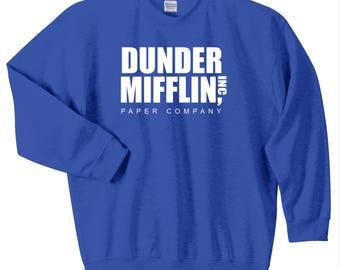 Dunder Mifflin Sweatshirt, Dunder Mifflin Paper Company Crewneck Sweatshirt, Sizes S-5XL, Gift for Her, Gift For Him. 18000