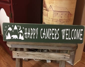 Happy Campers Welcome Sign