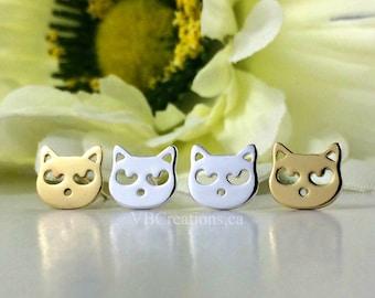 Cat Earrings - Cat Jewelry - Studs Earrings - Raccoon Earrings - Raccoon Jewelry - Kitty Earrings - Best Friend Gift - Christmas Gift - BFF