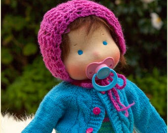 Reserved. Second payment for Tricia. Traditional Waldorf Baby-doll, 15 inches. Steiner doll
