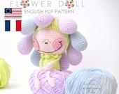 flower doll  -  PDF digital crochet pattern