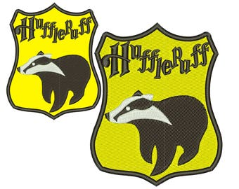 Harry Potter - Hufflepuff - Coat of Arms: Machine embroidery design