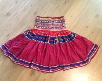 Tribal Kuchi Banjara Skirt Ethnic Dress Tribal Dance India Afghani Rajasthan Hippie Boho Vintage Oriental