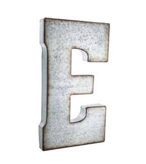 Large Metal Letters For Wall Decor : On sale large metal letters wall decor galvanized