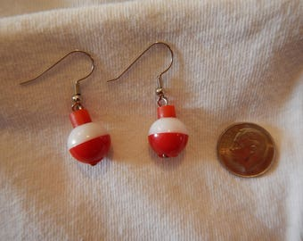 Fishing Bobber Earrings,Fish,Fishing Jewelry,Bait Fishing,Fly Fishing,Fishing Bobbers,Bobbers,Fishhook Earrings,Earrings,Angler,Love Fishing