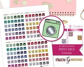 PRINTABLE ICONS: Washing Machine/Printable/Digital/Stickers