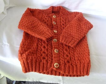 Toddlers cable cardigan