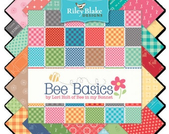 Bee Basics Fat Quarter Bundle, Hand Cut, Riley Blake Designs, Lori Holt Fabric