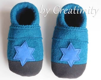 Baby Wool Slippers Wool Baby Booties Toddler Slippers Wool Baby Slippers Stay On Baby Shoes Non Slip Shoes Crib Shoes Baby Shoes