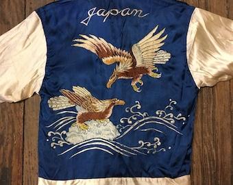 1940's WWII Era japanese souvenir jacket small