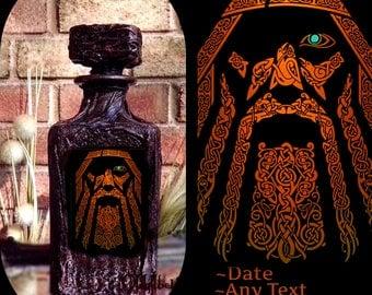 Viking Whiskey Decanter~Custom Decanter~Gift men~Personalized Whiskey Decanter~Viking gift~anniversary gift~wife gift~Princess Leia