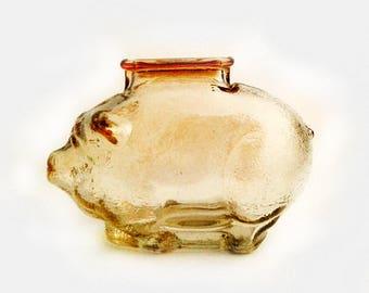 piggy coin bank - Carnival Glass Piggy Bank - piggy money bank - Glass Piggy Bank  # 116