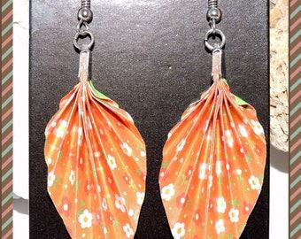 Origami paper earrings