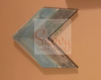Rustic wooden arrow decor