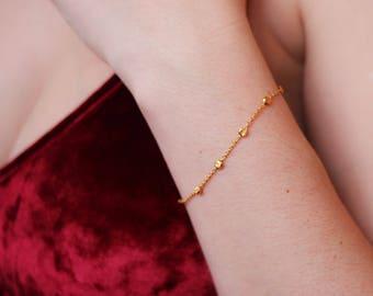 gold chain bracelet, 24k vermeil bracelet chain, dainty silver bracelet, gold chain bracelet, simple bracelet, dainty gold bracelet