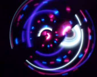 Jupiter LED Hula Hoop - 20 Pink, White, Purple Solid and Pink/Blue Strobe LEDs - Rechargeable Li-Ion