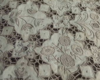 Pretty Cotton Placemats/Cream/Decorative x4 peices