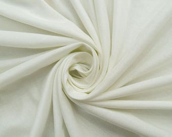"Dressmaking White Fabric, Sewing Crafts, Summer Fabric, Quilting Fabric, 42"" Inch Rayon Fabric By The Yard PZBR7E"