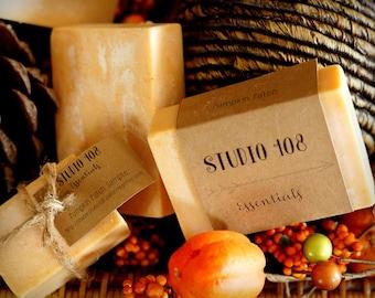 Pumpkin Bar Soap, Vegan Soap, Organic Soap