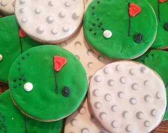 12 golf cookies