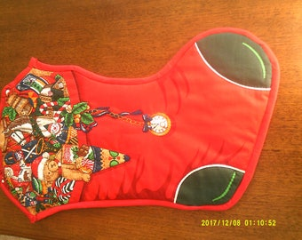 Christmas stocking Hand Quilted and Hand Made, Heirloom of the future