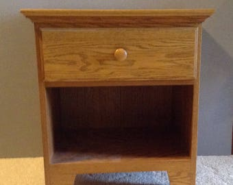 Vintage Solid Oak, Night Stand, Side Table, Amish Oak