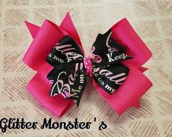 Ballet Bow, Dance Ballerina Bow,  Ballet Shoe Bow, Ballet Gifts, Ballet Shoes, Dance Hair Bow, Ballet Costume Bow, Ballet Dancer Bow